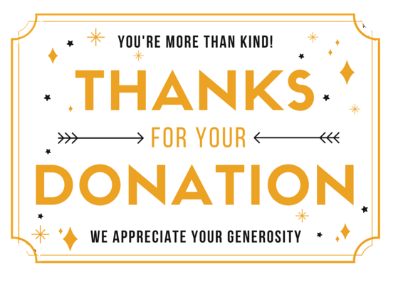 thank you donation